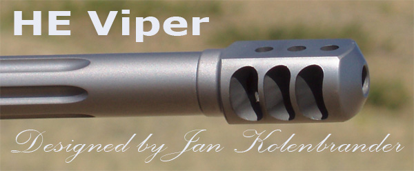 HE Viper Muzzle-Brake, designed and build by Jan Kolenbrand